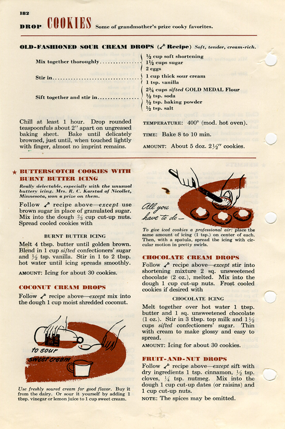 Chocolate Drop Cookie Recipe from Betty Crocker Picture Cook Book 1950